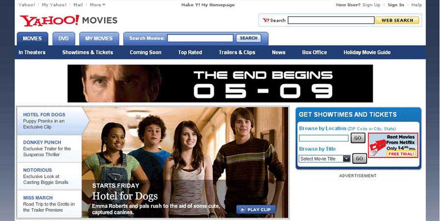 Highslide JS Flash Banner Ad For Movie